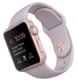 博定宝Apple/苹果Watch 手表 玫瑰金色铝金属表壳薰衣草紫色运动表带